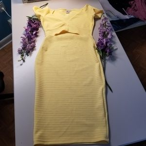 ASOS soft yellow dress